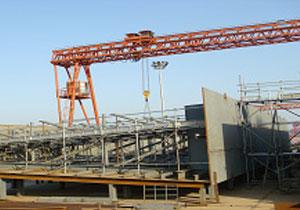 海洋石油青岛有限公司800t×185m龙门吊总承包项目(全国安装工程优质奖、集团科技创新一等奖)